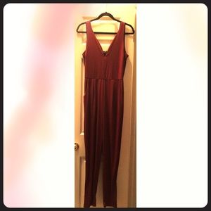 Ambiance Women's Large  Burgundy one piece